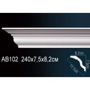 Карниз гладкий под покраску AB102F