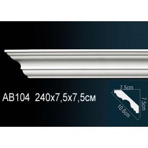 Карниз гладкий под покраску AB104
