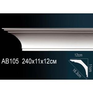 Карниз гладкий под покраску AB105