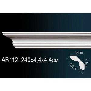 Карниз гладкий под покраску AB112