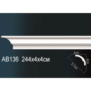 Perfect Карниз гладкий под покраску AB136