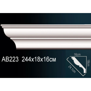 Perfect Карниз гладкий под покраску AB223